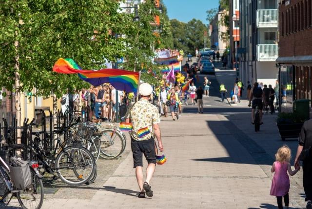 På jakt efter tåget? Luleå Pride 2019.