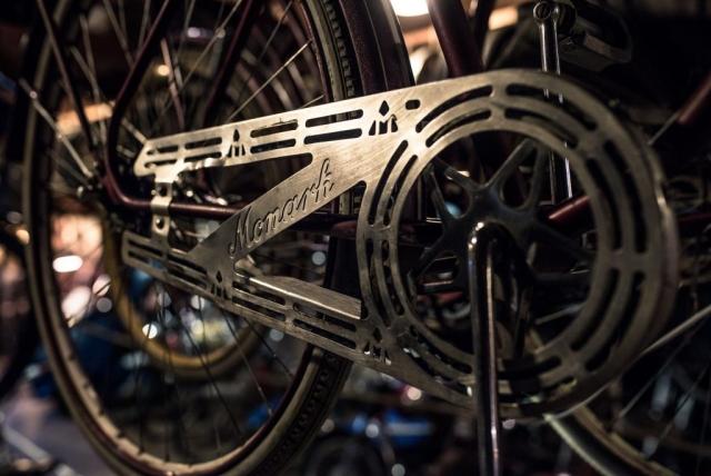 Monark cykel, nog var det snyggare kedjeskydd förut. Patinamuseet