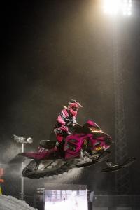 17 Elina Öhman, Tväråns IF. Lynx Skotercross. Boden Arena Super-X 2018.