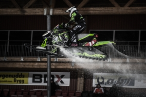 11 Elvira Lindh, Borlänge SSK, Team Arctic Cat Sweden Skotercross. Boden Arena Super-X 2018.