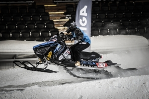 100 Ronja Revelj, Team Walles MK, Polaris Team Sweden Skotercross. Boden Arena Super-X 2018.