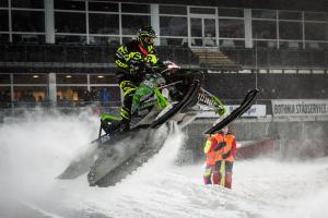 165 Pär Vikman, Malmfältens MCK, Ignition Snowcross. Artctic C Skotercross. Boden Arena Super-X 2018.