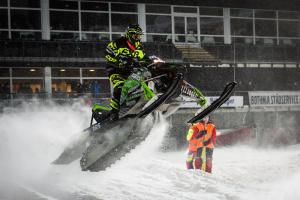 165 Pär Vikman, Malmfältens MCK, Ignition Snowcross. Artctic C Skotercross. Boden Arena Super-X 2018.