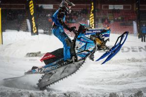 19 Tim Karlsson Umeå AK. Polaris Skotercross. Boden Arena Super-X 2018.