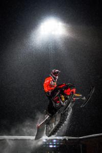 110 Simon Lundström, Kiruna MK10, Team Lundström Maskin. Lynx Skotercross. Boden Arena Super-X 2018.