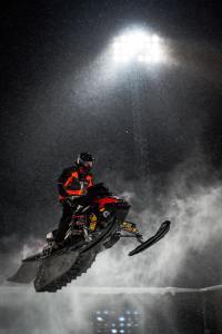 129 Jens Nordström, Infjärdens RSK, Team Traktorcity/Crossfix. Skotercross. Boden Arena Super-X 2018.