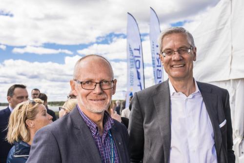 Hybrits invigning på SSAB:s industriområde i Luleå.