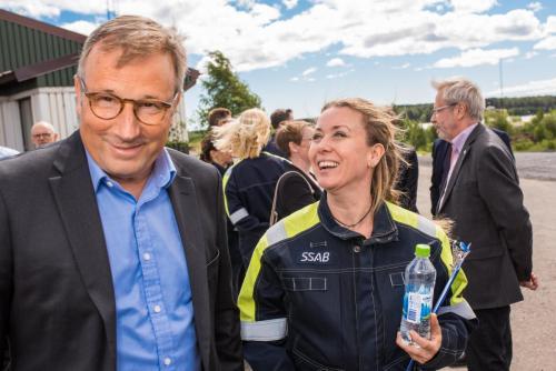 Invigning av Hybrit på SSAB idnustriområde i Luleå.