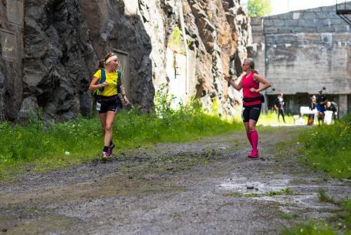 Löpare från Boden Fortress 2018. Här från vallgraven i Åbergsfortet.