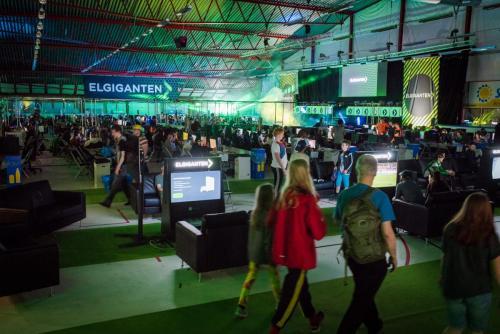 Med Elgiganten som huvudsponsor ökar möjligheterna till  stord ljud och ljus... Nordsken 2018.