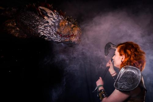 Cosplayer. Nordsken 2018. She in Dovahkiin: Dragonborn. -Thanx Tarotikum.