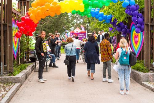 Välkomnande inramning! Luleå Pride 2018.