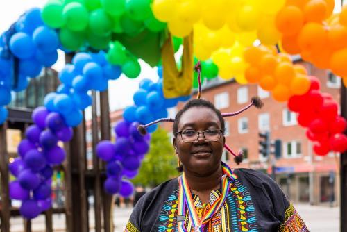 Färgglatt är ordet! Luleå Pride 2018.