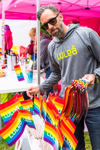 Luleå kommun visar upp sig! Luleå Pride 2018.