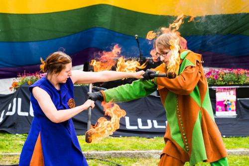 Nej igen, man ska inte leka med elden! Luleå Pride 2018.