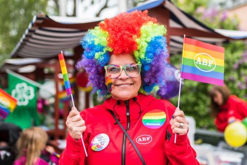 ABF ställer helhjärtat upp! Luleå Pride 2018.
