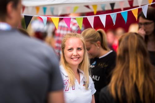 Besökare, sponsorer och medhjälpare. Luleå pride 2018.
