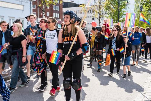 Många olika stilar under priden!  Luleå pride 2018.