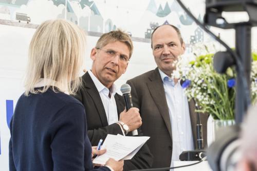 Jan Moström, vd och koncernchef, LKAB samt Martin Lindqvist, vd och koncernchef, SSAB.