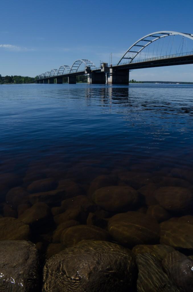 Bergnäsbron i Luleå. Ett typiskt landmärke för Luleå.