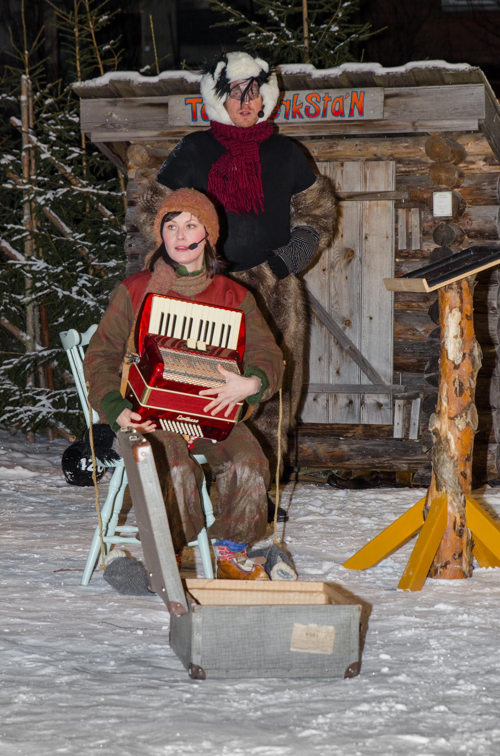 julkalendern i stadsparken Luleå