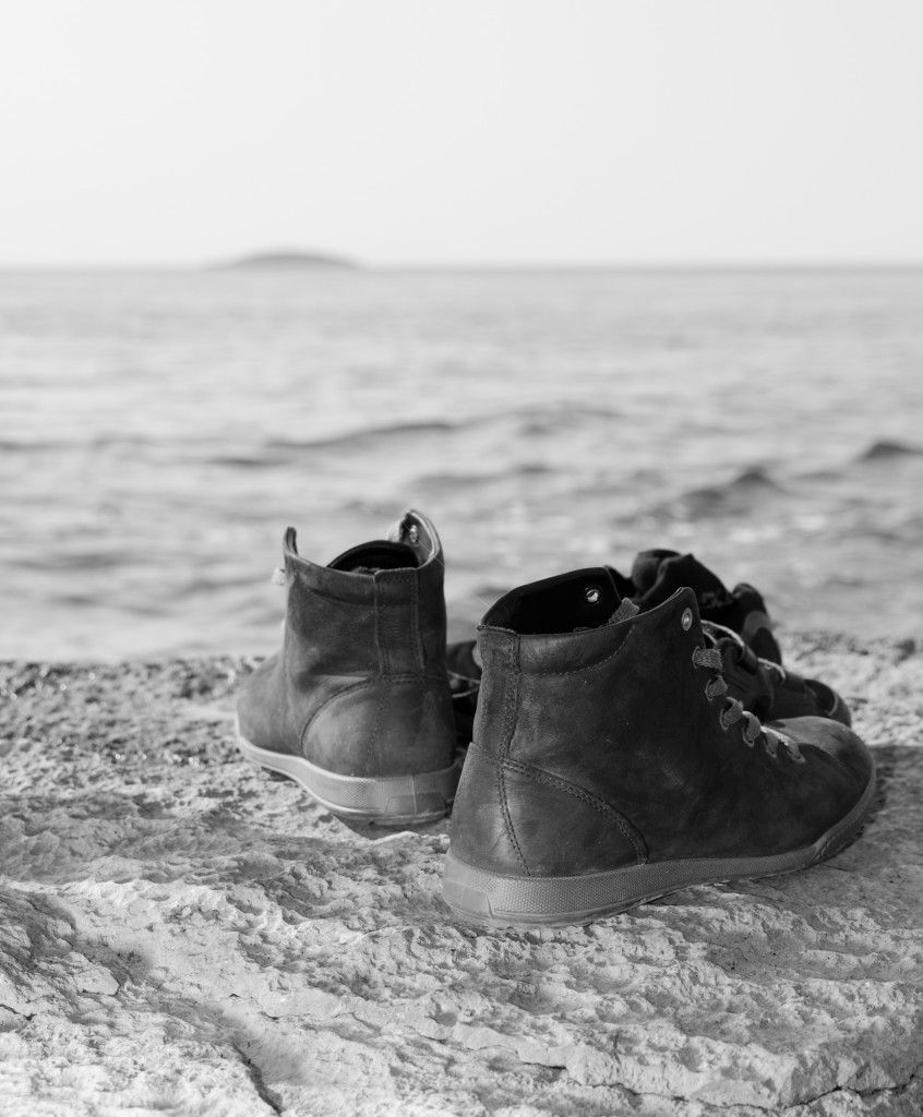 Skor på en strand. Öland.