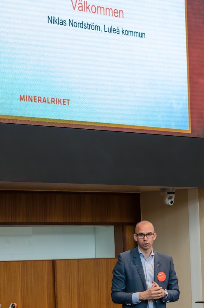 Mineralriket Luleå 2014. Niklas Nordström, kommunalråd Luleå.