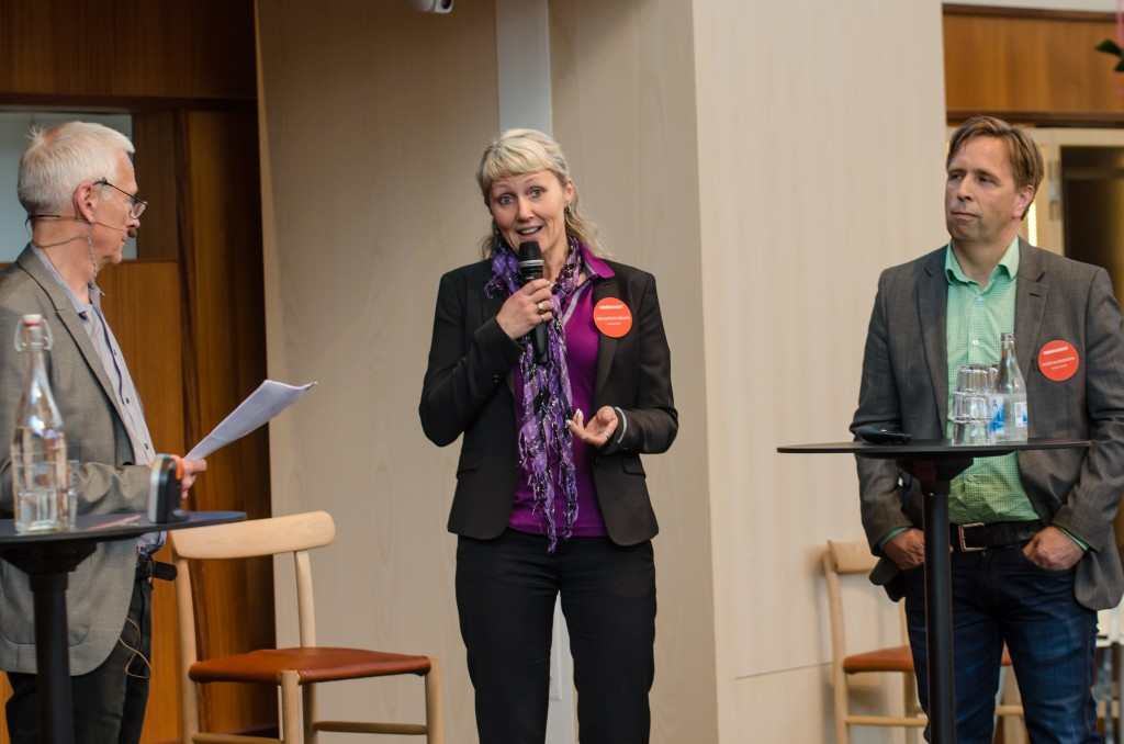 Mineralriket Luleå 2014 i Vetenskapens hus.Ann-Christin Viklund, Luleå airport samt Peter Salomonsson, Kiruna airport.