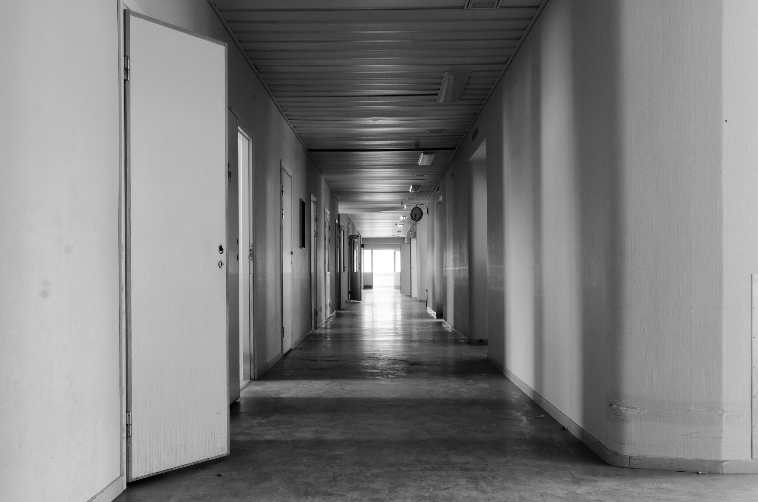 Sandträsk sanatorium. Skönt att inte väggarna kan tala.