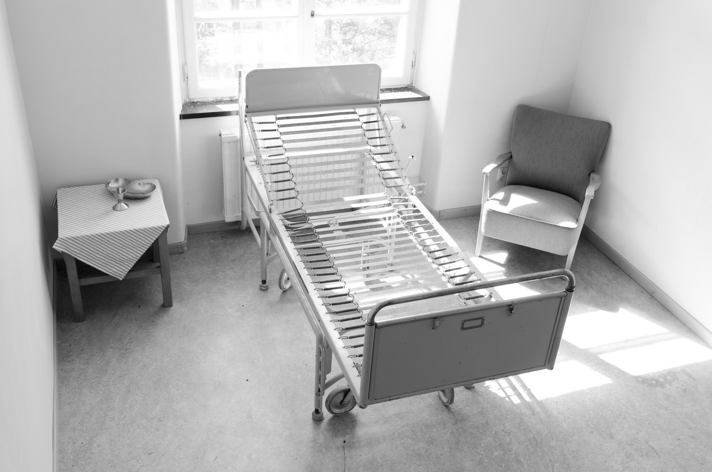 Sandträsk sanatorium. Läskigt rum med krypande känsla efter ryggen.
