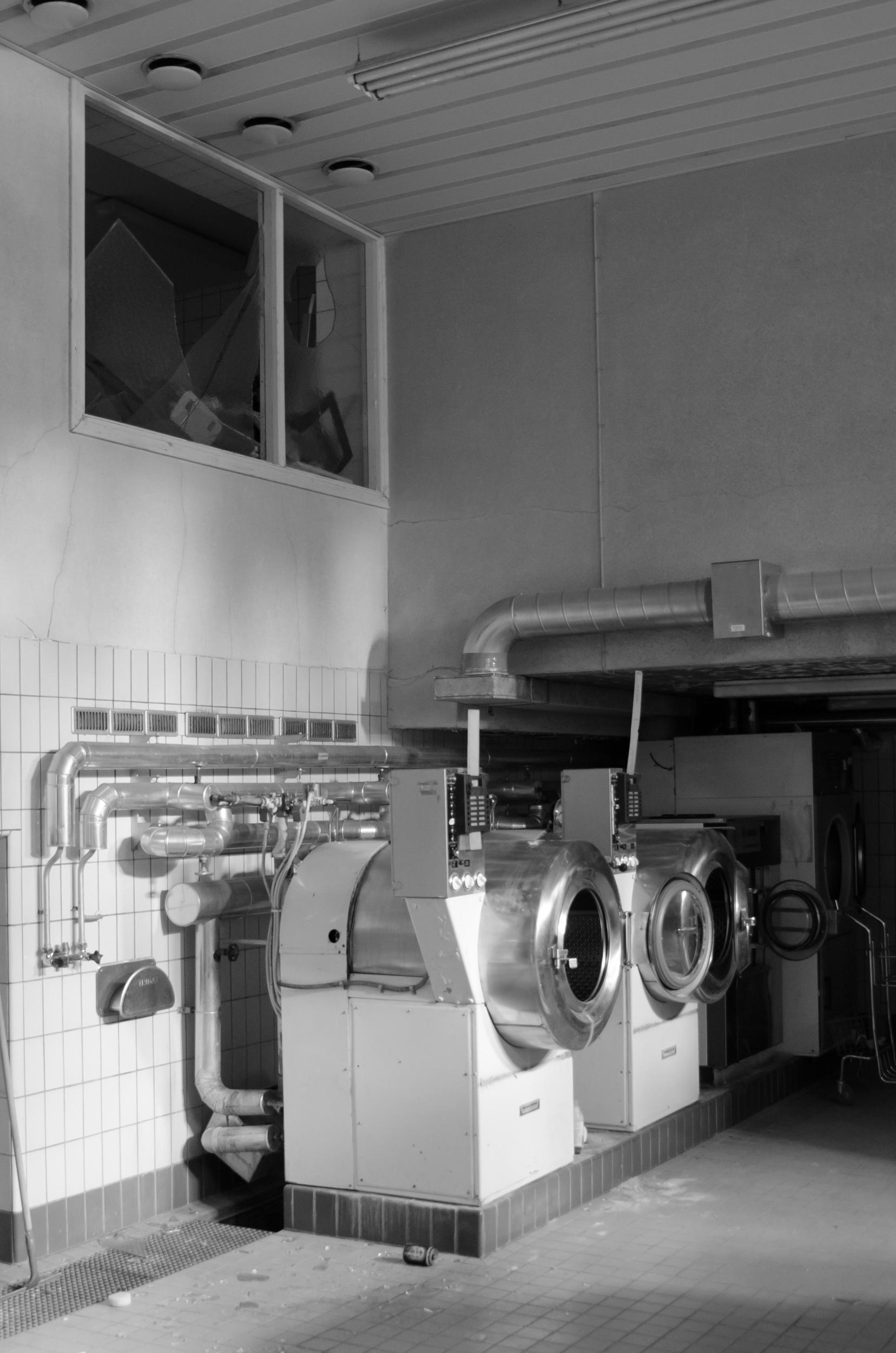 Sandträsk sanatorium. Tvätteriet.