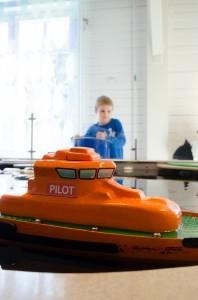 Teknikens hus, Luleå. Radiostyrd båt, alltid kul!
