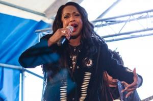 LaGaylia Frazier at Kläppenfestivalen in  Boden.