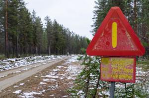 Rikti Dokkas 2014.  Ska vi verkligen våga? Här var det lite snö på vägen, värre blev det sen!