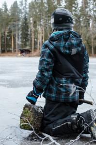 Simon på Hönsitjärn i Sävast.
