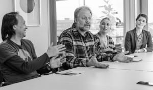 Troy Campbell, Birgitta och Tim Linhart , samt Ulrika Billström