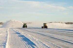 Isvägen i Luleå skottas.