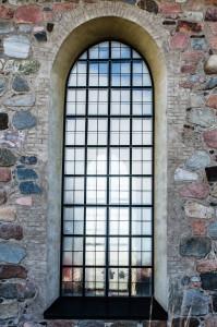 Gammelstad kyrkby. En hel del hantverk bakom denna ruta.
