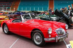 Fordon genom tiderna - Björknäshallen Boden. MGA Roadster 1959.