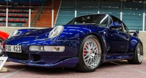 Fordon genom tiderna - Björknäshallen Boden. Porsche 993 Carrera RS 1994., Snygg färd!