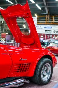 Fordon genom tiderna - Björknäshallen Boden. Corvette Stingray 71? Stora koppar under huven...