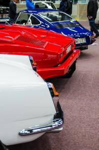 Fordon genom tiderna - Björknäshallen Boden. Fina bakar!  Alfa Romeo Spider, Lamborghini Countach och Porsche 911. Svårt val!