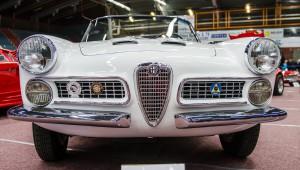 Fordon genom tiderna - Björknäshallen Boden. Alfa Romeo Spider 2000 1959. Snygg cab!