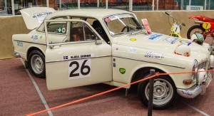 Fordon genom tiderna - Björknäshallen Boden. Volvo Amazon 122S Rallyutförande sopm den såg ut när Olle Lindström körde...