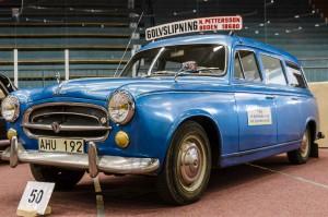 Fordon genom tiderna - Björknäshallen Boden.Peugot 403 Break 1961.