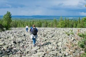 Det är finurligt utsatta stenar på stigen här så det är väldigt lätt att gå trots det ser ut så här.