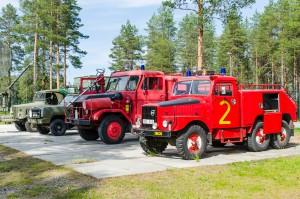 Luleå Flygmuseum bjöd även på en massa landfordon.