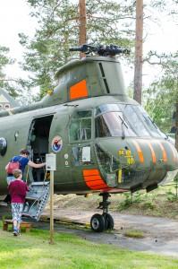 Kul att få se en Vertolhelikopter i verkligheten, de är stora!