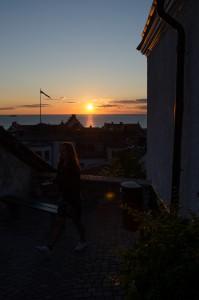 Visby.  Brukar inte gilla bilder på solnedgångar men denna var fin!