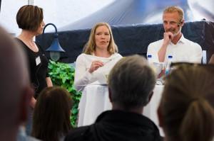 """Almedalen. Bl a Fredrik Westin, Förälder och föreläsare, """"Stålmannens pappa""""."""